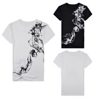 Men O Neck Casual Blouse Printed T-shirt Slim Fit Tops Short Sleeve Floral Tee