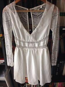 Blonde White Lace Dress Size 8