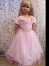 Kleid Prinzessin Königin Fee Kostüm Cinderella rosa Tüll Spitze Tüll 122 Neu