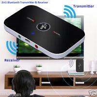 Bluetooth Transmitter Empfänger 3.5mm Wireless A2DP Stereo Audio Musik Adapter