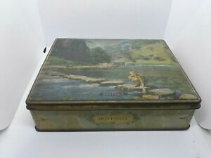 Vintage Empty Edward Sharp & Sons Maidstone Confectionary Tin Dovedale Derbys