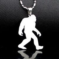 NEW Stainless Steel Yeti Sasquatch Bigfoot Big Foot Monster Ape Pendant Necklace
