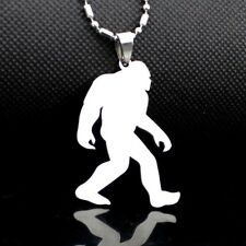 NEW Stainless Steel Yeti Sasquatch Bigfoot Big Foot Monster Ape Pendant Necklace