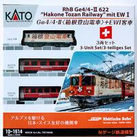 Kato N Scale  10-1514 Ge4/4 II Hakone Tozan Railway & EW I 3 Cars Set