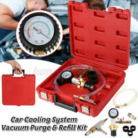 Car Cooling System Vacuum Purge & Refill Kit Fill Radiator Coolant Tools Case AU