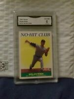 1991 SCORE #701 NO-HIT CLUB NOLAN RYAN CARD BEEN GRADED A 6