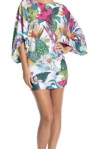 Trina Turk Amazonia Print Tunic Top Swim Cover Up Dress MSRP $144 NEW