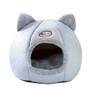 Cat Bed Little Mat Basket Small Dog House Pets Tent Grey Indoor Beds Cozy W7A1