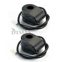 2X Motorcycle Handlebar Cigarette Lighter Power Plug Socket Waterproof 12V
