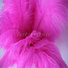 10pcs Rose Red Real Natural Ostrich Feathers For Wedding Decorations 12~14 inch