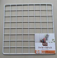 Japan Kitchen Wire Net Hanging Rack Mesh Memo Board Wall Mount 29.5 X 29.5cm WH