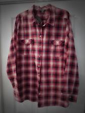 NWT Womens Eddie Bauer PackableS Shirt / blouse/  Red Crimson Plaid L/S  2x