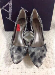 """Anne Klein """"AKZYA2"""" Gray Pointed Toe Black White Heels Shoe Pumps Sz 9.5 M NWT!"""