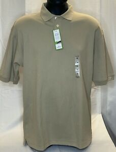 NEW Dockers Men's Golf polo shirt Tan Size Medium Cotton/Polyester Blend $36