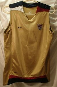 US Soccer National Team #20 Nike Gold Pinnie Jersey Youth Size Medium