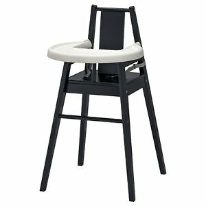 Brand New IKEA Black BLÅMES High Chair With Tray 101.690.03