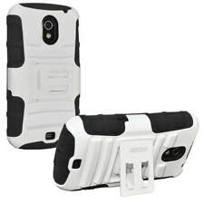NEW AMZER HYBRID CASE+KICKSTAND FOR SAMSUNG GALAXY NEXUS SCH-I515 - WHITE/BLACK