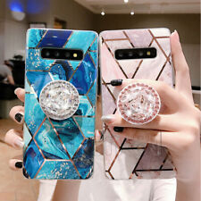 Marble Case Soft TPU Case with Pop Up Socket Phone Holder For Samsung S20 A51 71