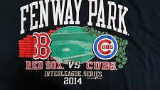 Boston Red Sox vs.Chicago Cubs 2014 Interleague Play Tee 21 X 24 New With Tags