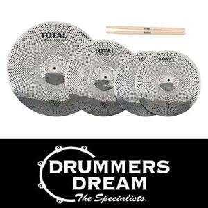 "Low Volume Cymbal Set 14""16""20"" Works Like Zildjian L80 & Sabian Quiet Tone"