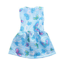 Dolls Dress Blue Butterfly Dress Costume Clothes for 18''AG American Doll Doll