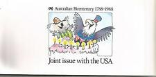 1988 Australian Bicentenary Joint Issue with USA - Post Office Stamp Pack