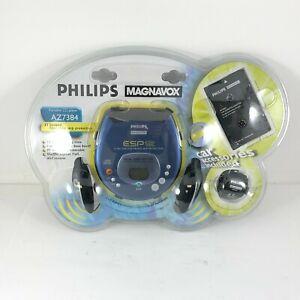 NEW Vintage Philips Magnavox Prtable CD Player Discman AZ7384 Headphones Car Kit