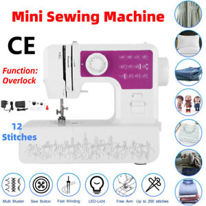 12 Stitches Quilting Sewing Machine Automatic Threading Sewing Feet Free Arm