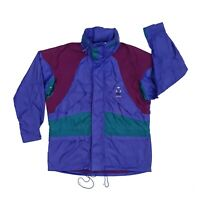 Vintage 90s Adidas Raincoat/Windbreaker Jacket Medium Blue aditex Nineties Retro