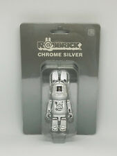 MEDICOM TOY CHROME Silver 100% RABBIT BE@RBRICK R@BBRICK BEARBRICK