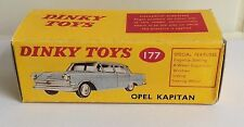 Dinky 177 Opel Kapitan Empty Repro Box Only