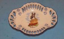 """Souvenir Tray Orl'eans Decor France 7""""x5"""" Bowl Jeanne  d' Arc Vintage Scallop"""