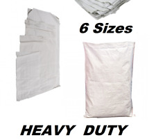 More details for bag sacks woven large extra heavy duty rubble sand bag sacks polypropylene pb