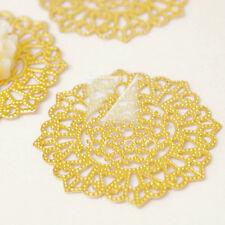 10pcs Metal Filigree Links for Jewelry Making Flower 30.5x30.5x0.3mm MB0589