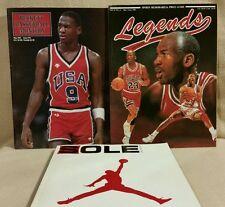 Vintage Micheal Jordan Magazine Lot Beckett Legends Sole Collector