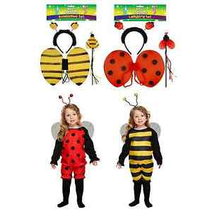 Ladybird Bee Toddler Baby Fancy Dress Up Costume Antlers Wings Accessories Party