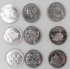 TheCoinMiner offer this nice set of Nine Canadian Millennium Quarters Collection