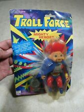 Vintage Troll Force Mighty Heroes Mighty Man Troll Action Figure Doll NOS MIP