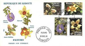 1981 DJIBOUTI FLOWERS SET ON SUPERB FDC - GREAT PRICE