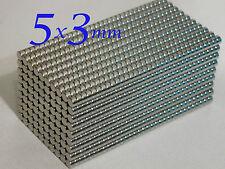 35 MAGNETI NEODIMIO 5X3 MM CALAMITA FIMO CERAMICA MAGNETE
