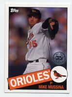 2020 Topps #85-14 MIKE MUSSINA Baltimore Orioles HOF 1985 STYLE INSERT CARD