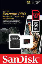 Genuine 128GB Sandisk Extreme PRO Micro SD Card 128GB U3 V30 95mbs UHS-I 4K