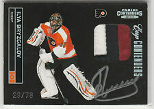 2011 11-12 Panini Contenders Patch Autographs #123 Ilya Bryzgalov 29/78 on-card
