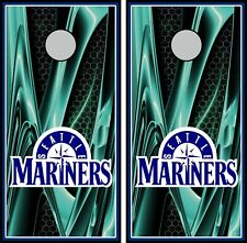 Seattle Mariners 0400 cornhole board vinyl wraps stickers posters decals skins