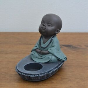 Baby Buddha Single Tealight Candle Tealight Holder Zen Home Decor Ornament