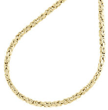 "10K Yellow Gold 2mm Hollow Box Byzantine Link Chain Necklace 20"" 20 Inches Mens"