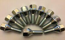 10 X M12X1.5 55mm LONG SILVER 30mm THREAD 60° ALLOY WHEEL BOLTS SAAB 65.1 1