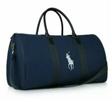 Polo Ralph Lauren Mens Navy Blue Medium Duffle Bag W/silver Logo NWT