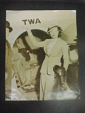 NANCY CARROLL, 1934 orig 8x10 [about to board TWA flight to NY] - DATE STAMPED
