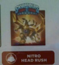 Nitro Head Rush Skylanders Trap Team Sticker / Code Only!